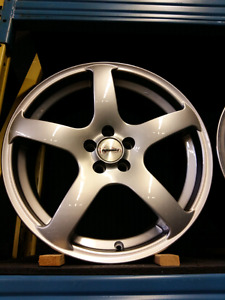 NEW 18INCH 5X100 MADE IN ENGLAND ALLOY RIMS