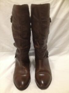 Ladies Brown Aldo Genuine Leather Tall Winter Boots 8M