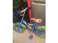 Boys bike 14# Moshy monsters