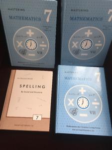 Grade 7 - Rod and Staff Math & Spelling Books
