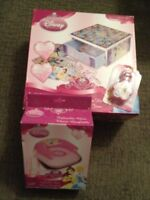 Brand new! Disney Princess Deluxe Game set and inflatable chair