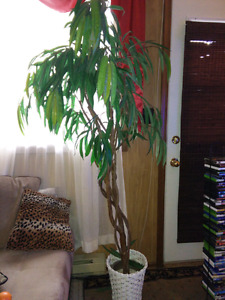 """Artificial potted tree plant 6"""" ft tall"""