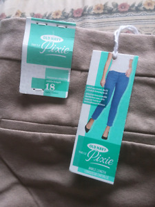 Brand new size 18 women ankle length light brown pant for $10.