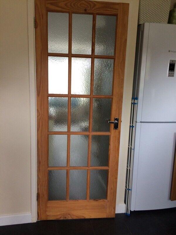 15 Pattern Glass Panel Pine Door In Plymouth Devon Gumtree