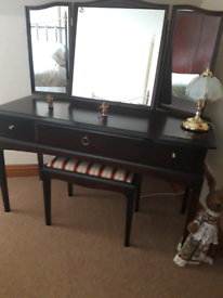 Stag Minstrel Dressing table, stool, mirror
