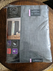 Large grey blackout curtains BRAND NEW