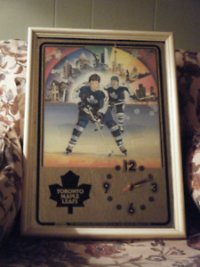 Vintage Toronto Maple Leafs Mirror Clock--$50 TODAY!!