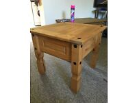Corona Mexican solid pine side table £40 ono