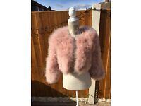 Miss Selfridge feathered jacket