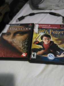 Harry Potter  and davinci code for ps2