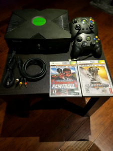 Xbox with retro games installed