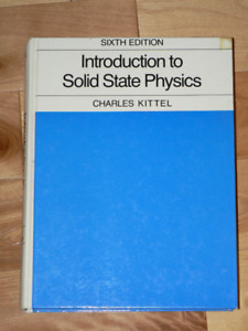 PHYSICS  - INTRODUCTION TO SOLID STATE PHYSICS
