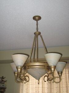 2 Matching MURANO Glass Pendant Chandeliers **Only $190