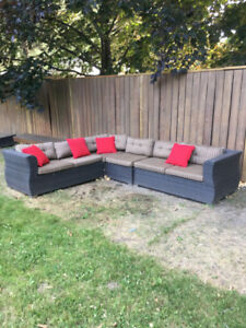 Patio lounging furniture (sectional outdoor couch)(high quality)