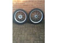 Honda CR 250 wheel set