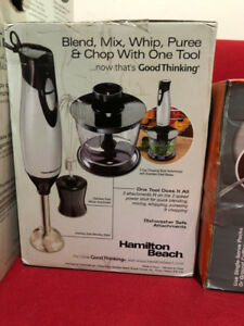 Toaster, coffee maker, cooker, can opener, blend, mixer