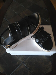 NEW Pajar Toledo Platform Womens Leather Sandal Sz 9-9.5