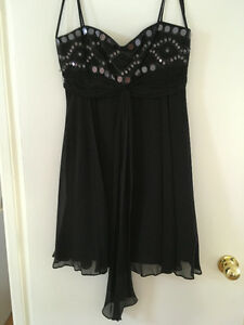 Black silk BCBG dress