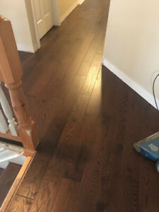 "Solid oak Hardwood flooring 3/4"" x 5"""
