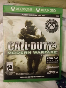 *for 360 and xbox one*  Call Of Duty 4 modern warfare