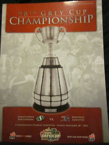 2010 Grey Cup Program, excellent condition