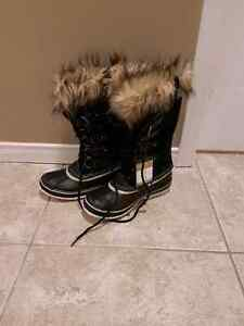 sorel joan of arctic black size 8 BRAND NEW