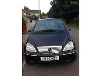 2001 Mercedes A190 AVANTGARDE 5 DOOR HATCHBACK BLACK PETROL1.9**FOR BEARKING**