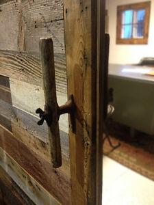 Custom Designed and Built Modern Industrial Barn Door