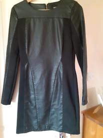 Black Leather Oasis Dress - size 10