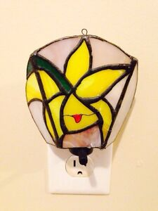 Vintage Stained Glass Night Light