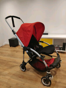 Stroller Bugaboo Bee 3 with car seat adapters and rain cover