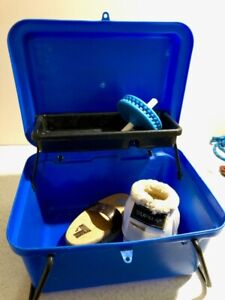 Horse Tack Box with Organizer Blue