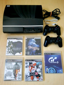 SONY FAT PS3 CECH-P01 CONSOLE AND GAMES