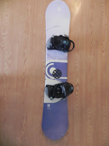 156cm/anthen snowboard with bindings for sale