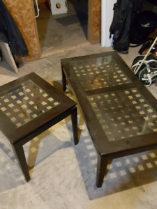 Coffee table and matching end table. $25 OBO