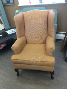 WING BACK CHAIRS CUSTOM MADE  - PAIR!!!