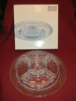 Mikasa crystal tray and dishes