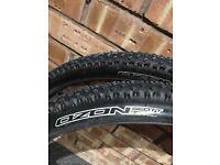 Scott Ozon 2.0 MTB bike tyres part worn