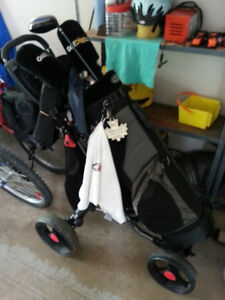 Men's Golf Clubs, Bag and Cart (Right Handed)
