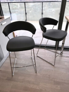 Four (4) Modern Counter Height Chairs from Calligaris
