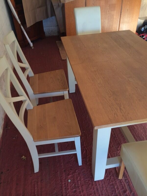 Shabby Chic Kitchen Table And 6 Chairs In New Ollerton