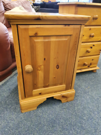 Pine bedside table £10
