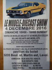 THE MODEL DIECAST SHOW NEAR MONTREAL  SUNDAY DECEMBER 4, 2016  1