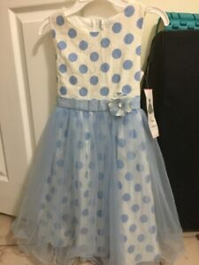 Beautiful blue dress for 6-7 year old, new with tags
