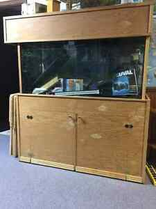 90 gallon tank with metal stand and wood canopy Cambridge Kitchener Area image 1