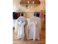 CHEAP LINEN HIRE **Chair Covers Only 50p EACH or 70p each including sash if booked in this month!