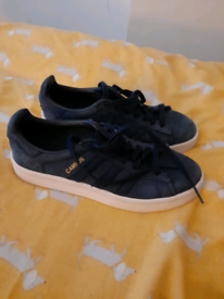 Navy Adidas trainers size 3