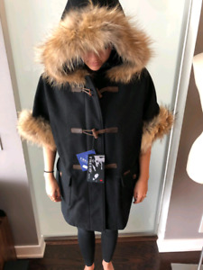 FREED VANCOUVER BLACK FUR JACKET BRAND NEW PAID $1100