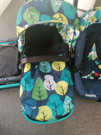 Cosatto woop travel system car seat pushchair stroller