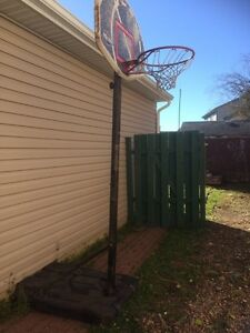 Portable basketball net with base